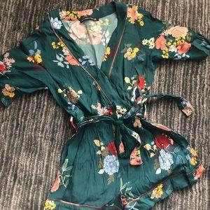 Abercrombie Floral Kimono Romper